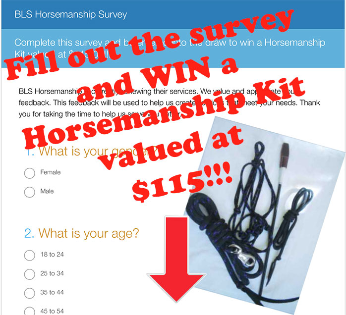 WIN a Horsemanship Kit valued at $115 by completing our survey!